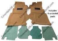 Ford Capri 2.8 1981 to 1986 Full Console Carpet Set - Wessex Wool Range